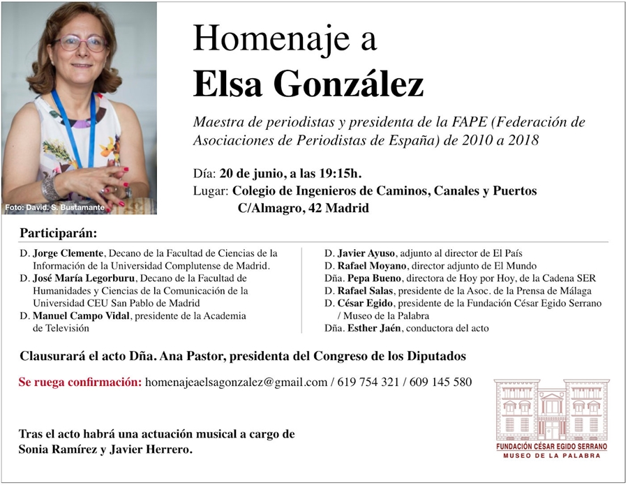 Homenaje Elsa Gonzalez APPV