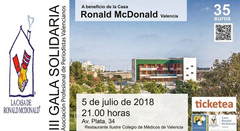 Gala Solidaria APPV Casa Ronald McDonald